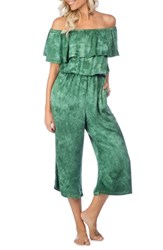 Green Dragon Crystal Forest Mira Cover Up Jumpsuit Hunter