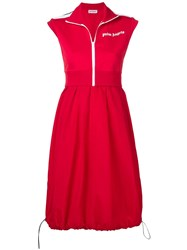 Palm Angels Casual Sporty Dress Red