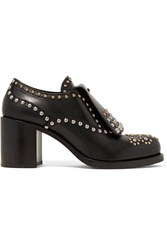 Prada Studded Leather Brogues Black