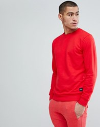 Only And Sons Crew Neck Sweat Racing Red