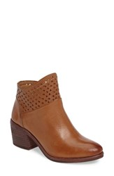 Kelsi Dagger Women's Brooklyn Glenwood Perforated Bootie Tan Leather