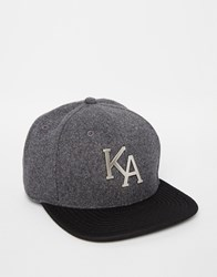 King Apparel Letterman Snapback Cap Grey