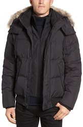 Marc New York Men's By Andrew Rockport Quilted Down And Feather Bomber Jacket