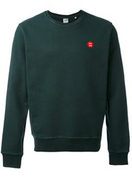 Aspesi Crew Neck Sweatshirt Men Cotton M Green