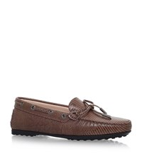 Tod's Gomma Tie Driving Shoes Female Taupe