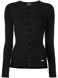 Dsquared2 Round Neck Cardigan Black