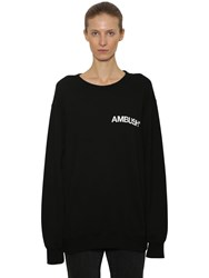 Ambush Logo Printed Cotton Sweatshirt Black