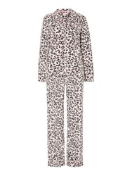 Therapy Leopard Print Fleece Pj Set Multi Coloured