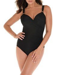 Miraclesuit Razzle Dazzle Siren One Piece Swimsuit Black