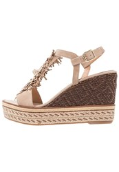 Kanna Praga Wedge Sandals Taupe