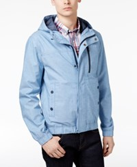 Tommy Hilfiger Men's Waverly Chambray Hooded Jacket