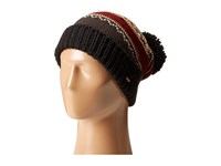 Free People Snow Bound Pom Pom Beanie Black Combo Beanies
