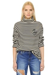 Steve J And Yoni P Striped Cotton Turtleneck Sweater