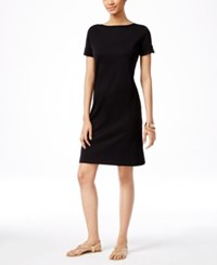 Karen Scott Short Sleeve T Shirt Dress Only At Macy's Deep Black