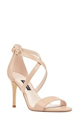 Nine West My Debut Strappy Sandal Light Natural Leather