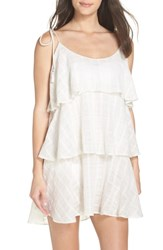 Muche Et Muchette Mariah Ruffled Cover Up Dress White Silver