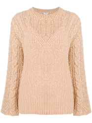 Kenzo Illusion Sweater Nude And Neutrals