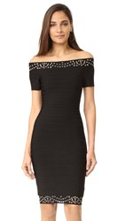 Herve Leger Karlee Bandage Dress Black Comb