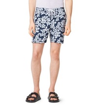 Michael Kors Floral Swim Shorts Atlantic Blue