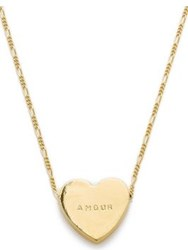 Erica Weiner Amour Heartbeats Necklace Gold Plated