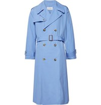 Maison Martin Margiela Cotton Poplin Trench Coat Light Blue