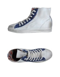 Le Crown High Top Sneakers Red