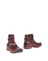 Acne Studios Ankle Boots Maroon