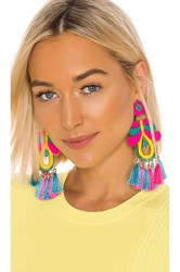Mercedes Salazar Curubas Magicas Earrings Blue