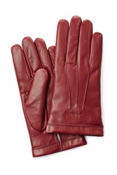 Etro Leather Gloves Red