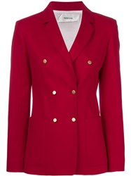 Mauro Grifoni Double Breasted Blazer Red