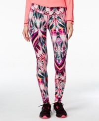 Material Girl Active Juniors' Printed Leggings Only At Macy's Fall Feather