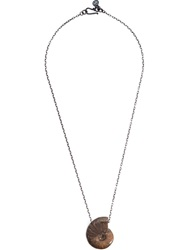Joseph Brooks Shell Pendant Necklace Metallic