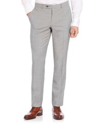 Saks Fifth Avenue Wool Check Pants