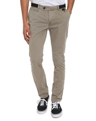 Eleven Paris Charlot Beige Washed Cotton Chino Trousers