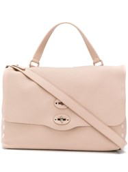 Zanellato Pink Leather Tote Bag