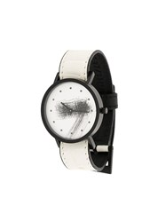 South Lane Avant Silent Watch Calf Leather Stainless Steel White