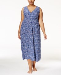 Alfani Plus Size V Neck Printed Nightgown Only At Macy's Digital Dot