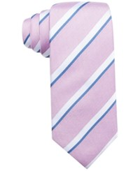 Countess Mara Men's Lucerne Stripe Classic Tie Rose