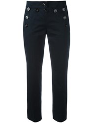 Dolce And Gabbana Cropped Trousers Blue