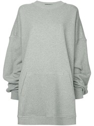 Y Project Oversized Paneled Hoodie Grey