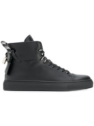 Buscemi Lace Up Hi Top Sneakers Black