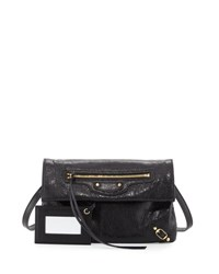 Balenciaga Classic Gold Mini Envelope Crossbody Bag Black