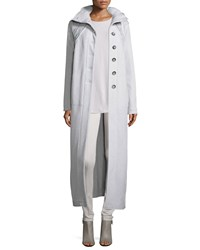 Nic Zoe Rich Stitch Wool Maxi Coat Silvercloud
