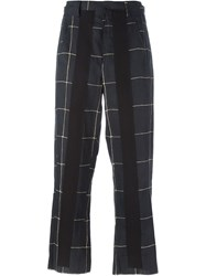 Damir Doma Checked Cropped Trousers Black