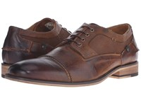 Steve Madden Jagwar Tan Leather Men's Lace Up Wing Tip Shoes