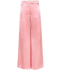 Valentino Silk Blend Trousers Pink