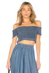 Show Me Your Mumu Truvy Smocked Top Blue