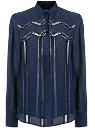 Gabriela Hearst Embroidered Lace Shirt 60