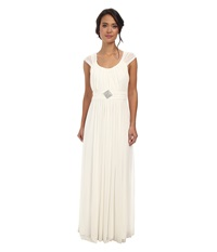 Alejandra Sky Jennifer Gown Ivory Women's Dress White