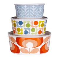 Orla Kiely Multi Design Storage Bowls Set Of 3
